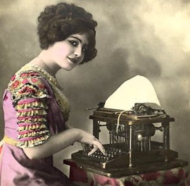 2.11 woman-typist-at-typewriter